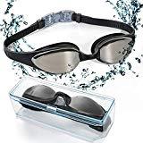 5acb5d310eb5 Occhialini da nuoto, EveShine occhialini da nuoto specchiati con lenti  trasparenti anti appannamento, occhiali da nuoto a tenuta stagna misura  comoda per ...