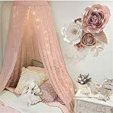 Pinji Ciel de Lit avec Support Moustiquaire pour lit B/éb/é Protecteur Lit Contre Insectes Araign/ées Moustiques D/écoration Lit B/éb/é Rose avec Poteau